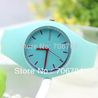 10 colors Fashion Silicone GENEVA Watch Thin Women Dress Watch Quartz Watch 1piece/lot BW-SB-305