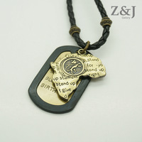 23%OFF Free Shipping, Cool Men Leather Necklace Series - Map wish Name Card Charms, Buddy Friendship Chain