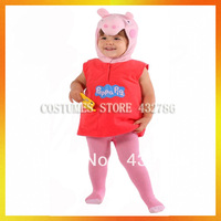 JLWC-3598 Free Shipping Animal Costumes for kids Pink Pig children Costume for Kids