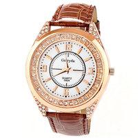 Fashion Watches For Women Rhinestone reloj de piel Luxury Quartz Clock PU Leather Free Shipping Drop Shipping