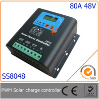 80A 48V PWM Solar Charge Controller with LED&LCD Display, Auto-Identification Voltage, MCU design with excellent performance
