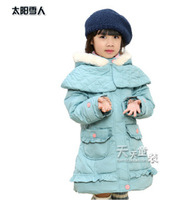 Children's Clothing Girl Down Coat  Princess  medium-long 110-130cm 4-8 years old