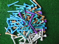 High quality 100pcs/bag 54MM  Wooden Golf Tees Free shipping