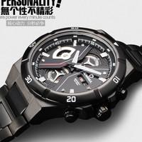 High quality full steel brand multifunction men sports fashion Creative watch,100M waterproof casual dress Luxury Business watch