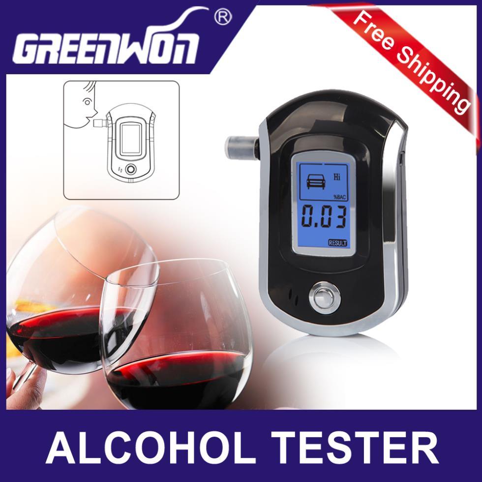 2pcs/lot wholesale Professional Alcohol Breath tester alcohol detector breather alcohol test analyzer AT-6000 Free shipping(China (Mainland))