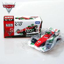 Free Shipping 1/55 Scale Pixar Cars 2 Toys Francesco Bernoulli Racing Car C-17 Diecast Metal Car Toy New In Box(China (Mainland))