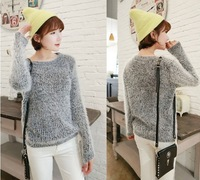 PROMOTIONAL 2013 WINTER Fall WOMEN PLUS SIZE SMOOTH MOHAIR SIMPLE KNITTED PULLOVER SWEET SWEATER OUTWEAR soft feel Freeshipping