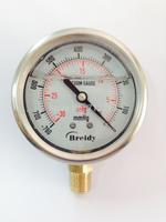 Stainless steel Vacuum Gauge Air Manometer Pressure Gauge Quakeproof   -30 - 0 inHg / -760 - 0mmHg