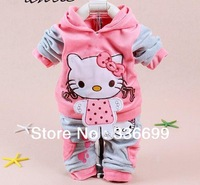 baby kids 2pcs clothes set girls hoody pants suit children cartoon sport suits tracksuit clothes