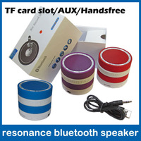 2013 new model resonance wireless bluetooth speaker support with phone handsfree,bass,tf card player free shipping wholesale