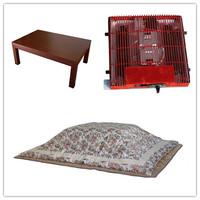 (4pcs/set) Free Shipping Kotatsu Living Room Sets Foot Warmer Low Coffee table Wooden Rectangle 120cm Kotatsu Table Futon Heater