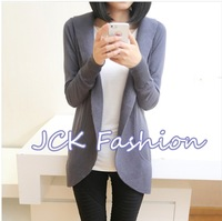 2013New Women Fashion Autumn slim small Coat Euramerican Style long sleeve Cardigan thin knitwear 5colour Free shipping JCK3384