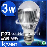 Lastest Generation 3w LED bulb Dimmable  AC85-265V E27 led lamps Spotlight silver gold shell warm cool white Led Lighting
