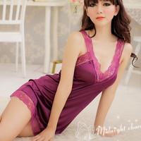Ny956, HOT 2 Pc Women Sexy Lingerie Babydoll Dress Pyjamas Sleepwear Nightwear, Drop Shipping