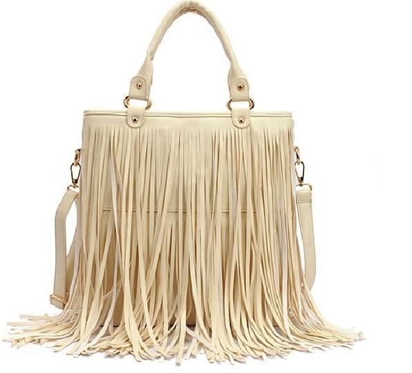 Bags Women Leather Handbags Punk Tassel Shoulder Bags Fahion Women Big Handbag Messenger Bag Tote Bolsa Franja(China (Mainland))