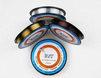 No.1 Quality&service High Quality Transparent  Red Multicolour Coating Carbon Fishing Lines Fluorocarbon 150m