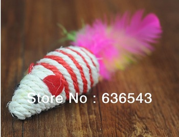 10pcs / bag The Cheapest Pet Toy Cat Chew Toy Pet Rat Cat Rat Toy Hemp Rope Rat for Pet Cat in 12cm FREE SHIPPING