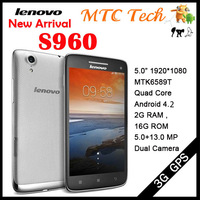 In stock New Arrival Lenovo Vibe X S960 Phone MTK6589t 1.5GHz Quad Core Android 4.2 16G 13MP Camera 5.0'' IPS HD Screen 3G GPS