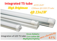 Fedex Free shipping 20pcs/lot Integrating  LED T5 Tube Light 1200mm 4ft SMD3014 13W High Brightness LED  tube AC85-264V