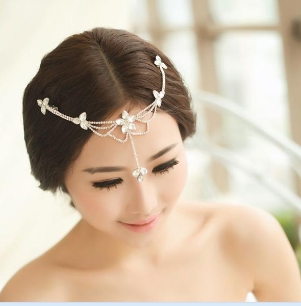Head-Chain-Rhinestone-Forehead-Jewelry-Wedding-Headband-Headpiece-Hair ...