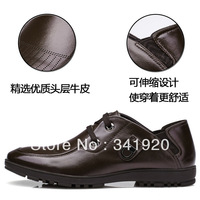 Wholesale shoes 2013 new Style genuine leather shoes men's fashion casual Genuine Leather shoes boat shoes Free Shipping