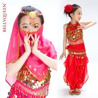 BELLYQUEEN~Belly Dance Costume For Girls,Performance Children Indian Dance Set,2PCS,3PCS,5PCS Choose,3Colors