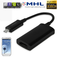 For Samsung Galaxy S3 i9300 i9308 Full HD 1080P MHL Adapter Micro USB to HDMI HDTV Adapter digital audio converter Video Cable