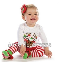 Wholesale#20pcs/10sets Fashion autumn/winter toddler boy girl render long-sleeved two-piece suit,Chrismas boy girl clothing  d08
