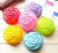 6 pcs/lot Hot Sale Rose Silicone Mold, Christmas Cake Fondant Decorating Tools, Silicone Bakeware Soap Cupcake Mould