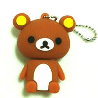 Kawaii Cute brown Cubs 2GB 4GB 8GB 16GB 32GB USB 2.0 Flash Memory Stick Drive Pen U Disc#