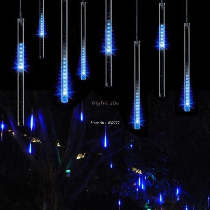 New 30CM Blue LED Meteor lights rain drop shower For Christmas Wedding Garden Decoration Lamp 100-240V/EU 31(China (Mainland))