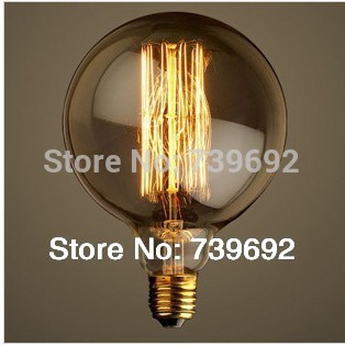 Northen Europe G125 40/60W E27 110V/220V antique edison bulb/vintage american brief novoltage retro edison bulbs light(China (Mainland))