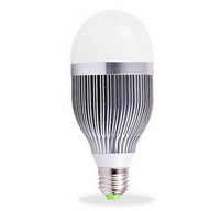 Free Shipping  E27 9W OR 12W LED Bulb, AC85~265V  AL  180 Degree