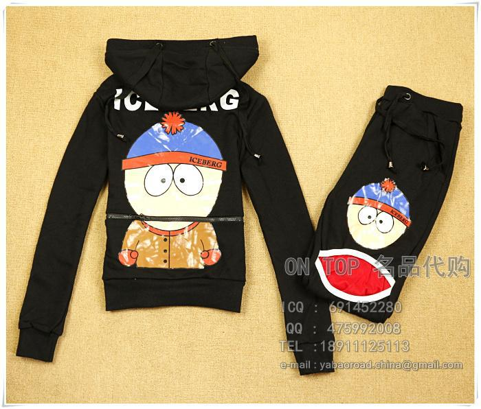 free shipping 2013 ice cotton track suit female doll suit(China (Mainland))