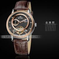 2013 EYKI new brand dress mechanical watch, tourbillon leather strap Casual watches,men fashionsports watch