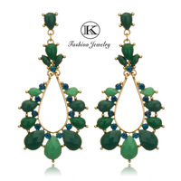 2013Fashion Jewelry Earring Vintage earrings Women Earrings Multicolor Indian Peacock  Earrings  Crystal Drop Big Earrings R-010