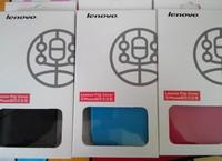 High quality Flip original lenovo logo Leather Case Cover lenovo a369 a516 a390 a590 free screen protector flim
