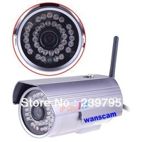 Free shipping  IR Cut Wireless WiFi OutdoorWaterproof NightVision CCTV Video   300k Pixel Security  IP Camera bullet camera