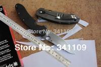 "Freeshipping New Spyderco C156GPBN Brad Southard Flipper 3.46"" CTS-204P Carpenter Steel Blade Carbon Fiber Handle folding knife"