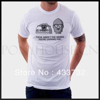 Droid Po funny star wars mens t shirt /   up short-sleeve t shirt   / 2013 mens sport casual t shirt