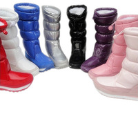 Berber Fleece Rubber Duck Space Boot Snow Boots Japanned Leather High Waterproof Slip-resistant