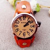 wholesale unisex Antique leather bracelet watch ladies watch bracelet prepared national wind retro jewelry personalized watch