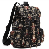 A00A Hot New fashion designer canvas girls school bags casual elegant daily laptop bags cute panda printing backpack women