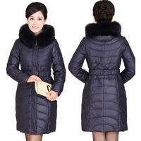 2015 NEW Winter Coat Women Plus Size Super Large Fox Fur Collar Thickening Duck Down Coats Branded Down Jackets Frozen Parka 698