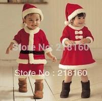 Wholesale High Quality 2-8 years Baby Santa Suit Girl Boy Novelty Costume Girl Dress Christmas clothing set 1set