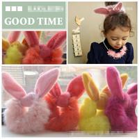 Free shipping 10pcs/lot  fashion Rabbit ear hair band hair ball hair accessories,children headwear