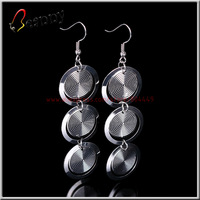 B13235,Free Shipping,Wholesale 12pairs/lot Fashion 925 Sterling Silver Plated Metal Drop Long Earrings For Women