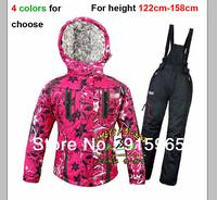 ski suit set women's children ski suit family outdoor windproof waterproof thermal outdoor jacket female 120cm-158cm