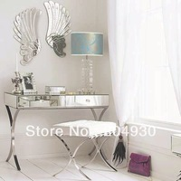 MR-401005 modern design mirrored furniture vanity table with barcelona chair