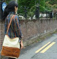 Lady Multifunctional Double-shoulder Bag Letter Print Backpack Shoulder Bag for Women